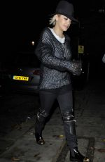 RITA ORA Arrives at Her Home in London 2611