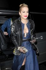 RITA ORA Arrives at Rockins for Eyeko Collection Launch in London