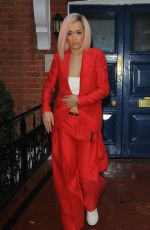 RITA ORA Arrives for Band Aid 30 Recording in London