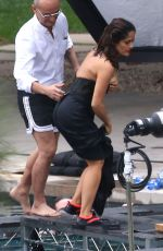 SALMA HAYEK on the Set of A Photoshoot in Los Angeles