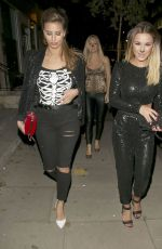 SAM and BILLIE FAIERS and FERNE MCCANN Arrives at Halloween Party at Sanderson Hotel