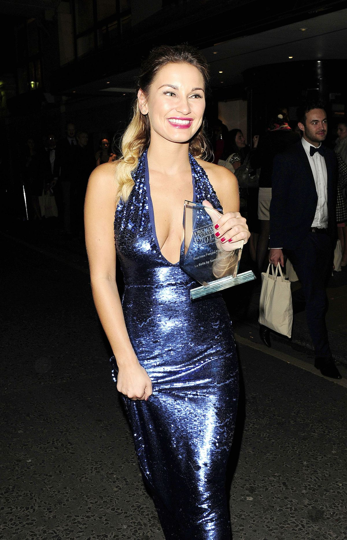 SAM FAIERS at Pure Beauty Awards in London