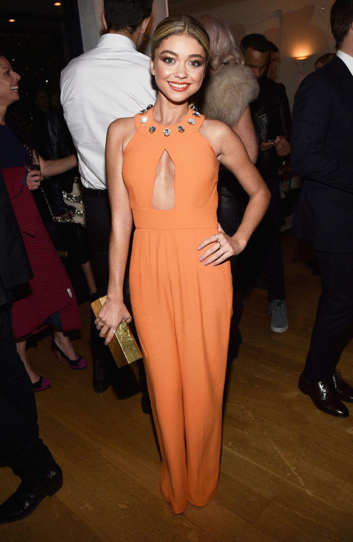 SARAH HYLAND at Hfpa abd Instyle Celebrate 2015 Golden Globe Award Season in Hollywood
