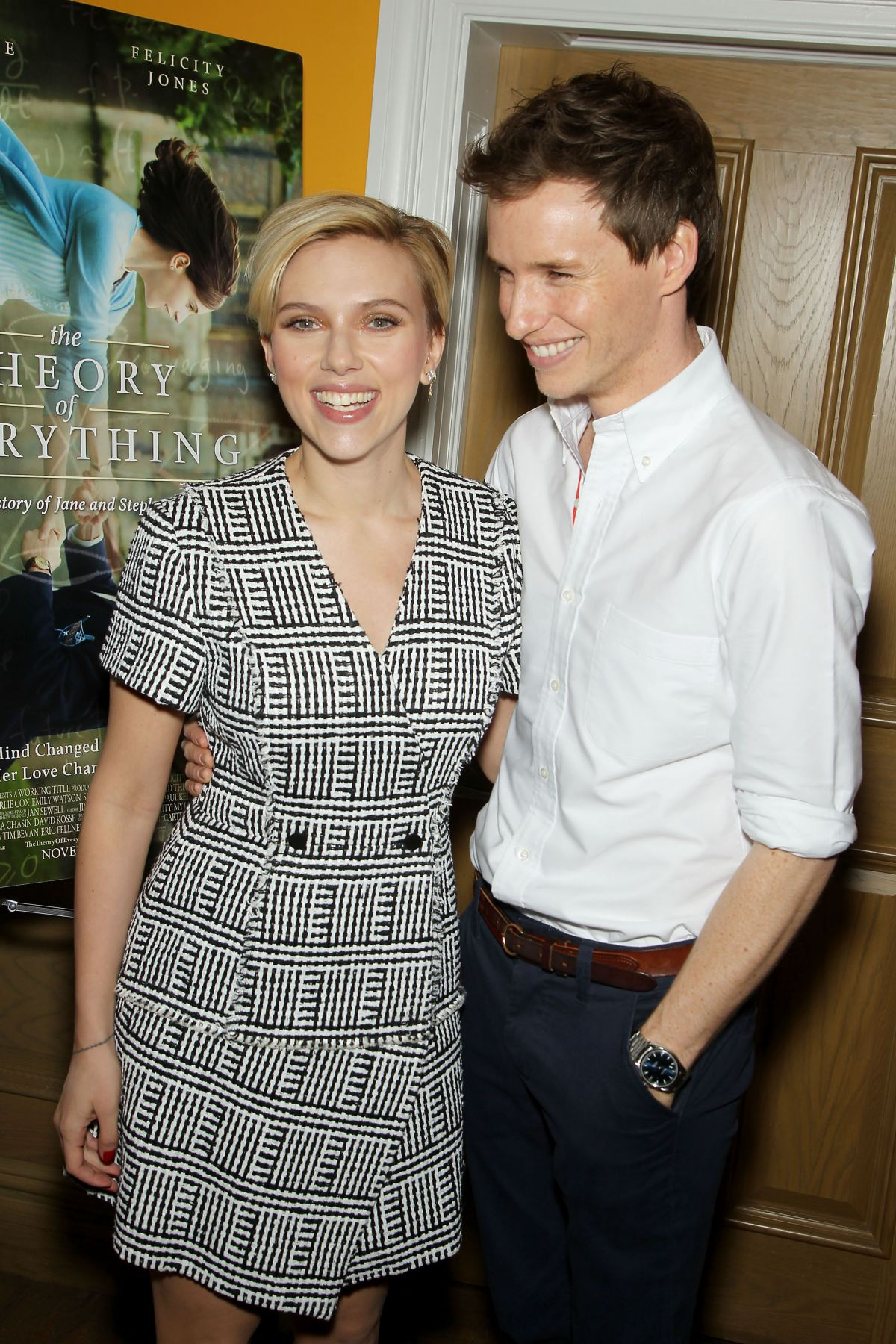 SCARLETT JOHANSSON at The Theory of Everything Screening in New York