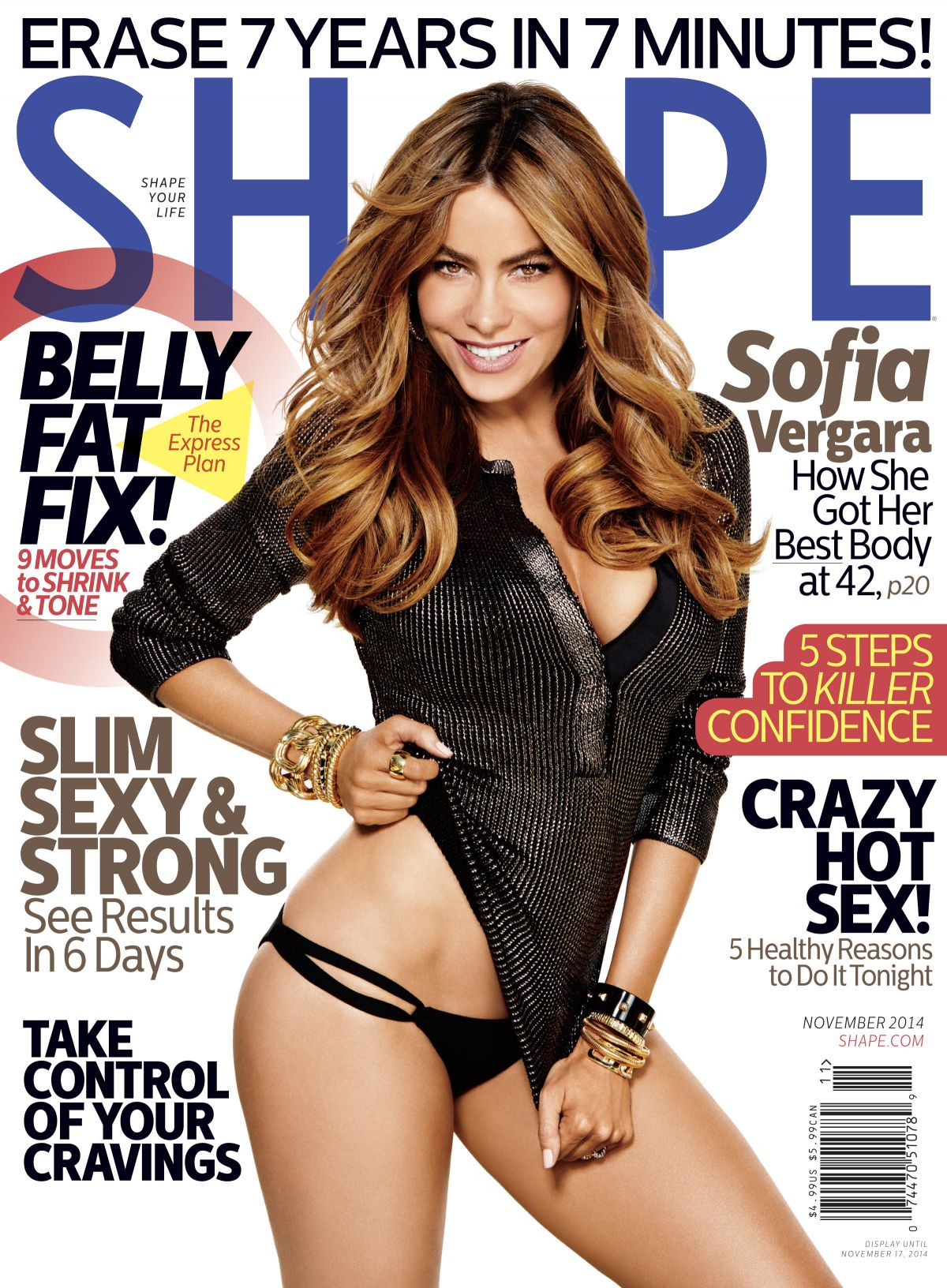 SOFIA VERGARA in Shape Magazine, November 2014 Issue