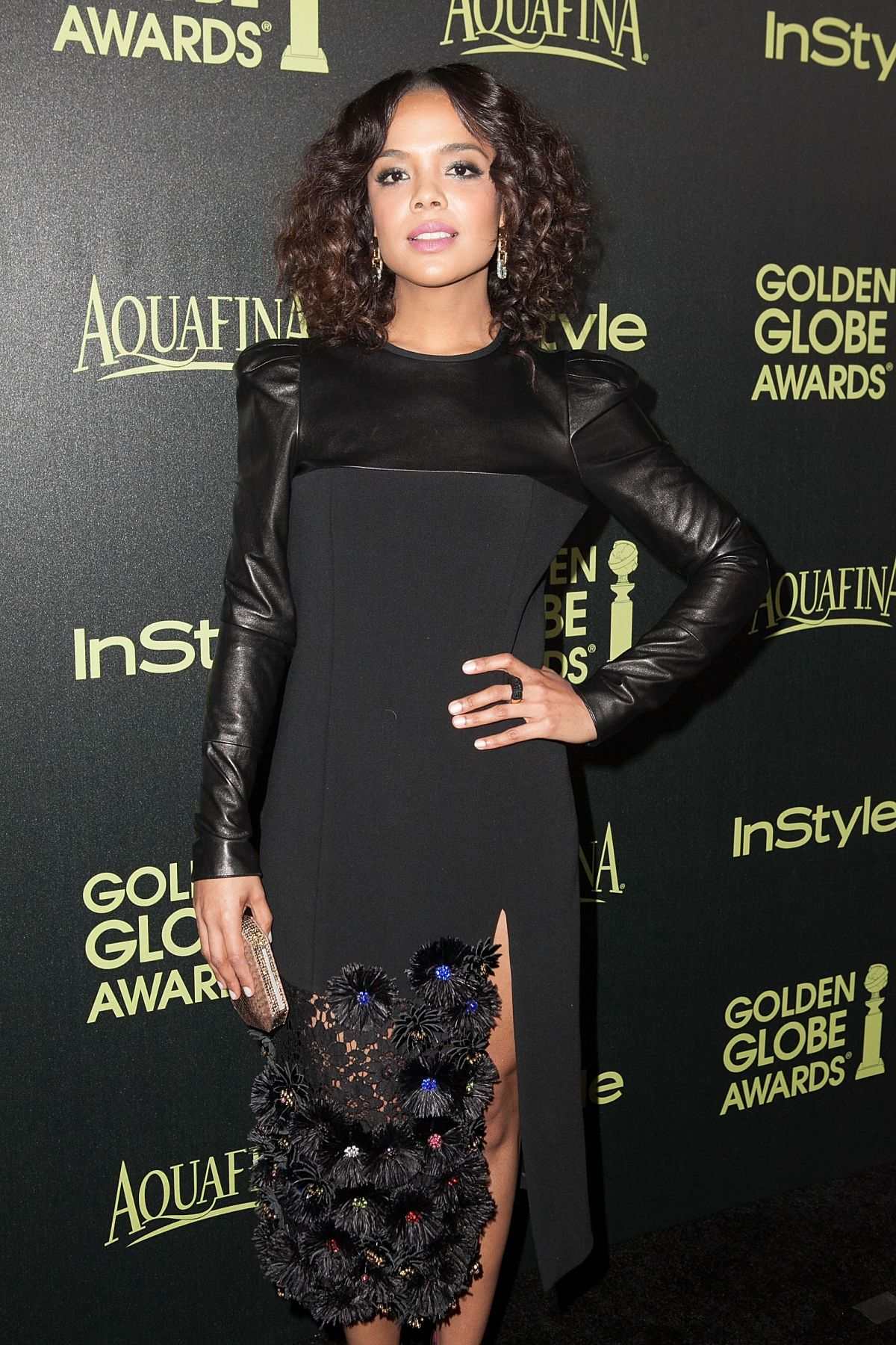 TESSA THOMPSON at Hfpa & Instyle Celebrate 2015 Golden Globe Award Season