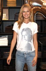 TONI GARRN at Streetwear Collection of Closed at Store Opening in Hamburg