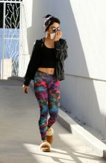 VANESSA HUDGENS Heading to Pilates Class in Los Angeles 2111