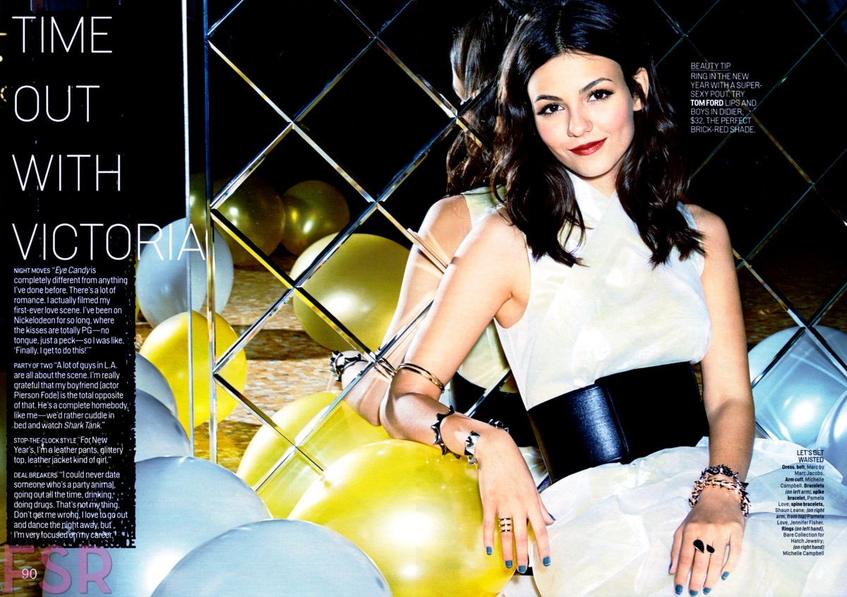 VICTORIA JUSTICE in Cosmopolitan Magazine, January 2015 Issue