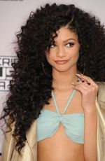 ZENDAYA COLEMAN at 2014 American Music Awards in Los Angeles