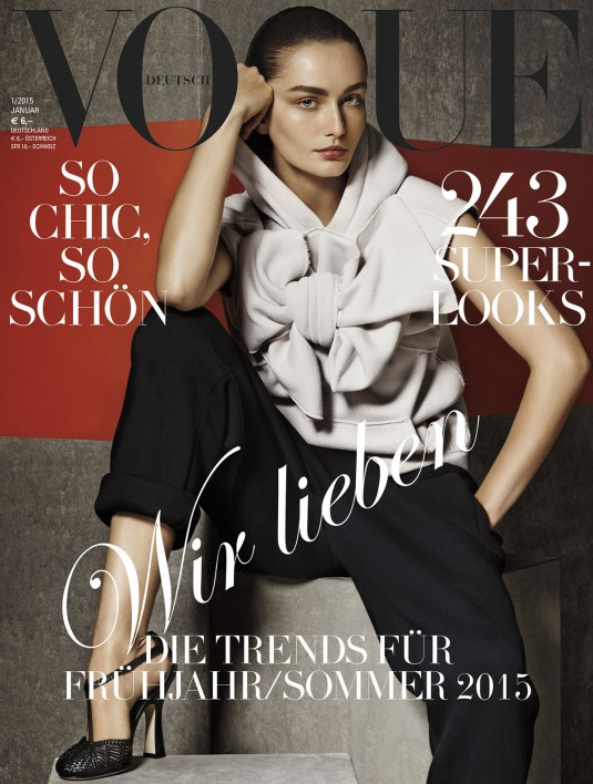 ANDREEA DIACONU in Vogue Magazine Germany, January 2015 Issue