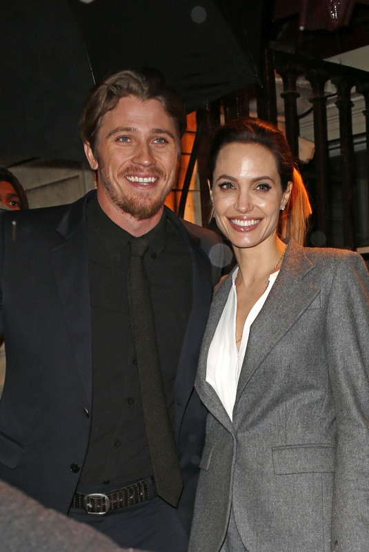 ANGELINA JOLIE and Garrett Hedlund at Unbroken Luncheon