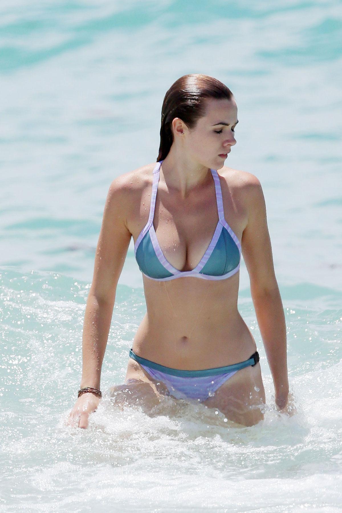 DEMI HARMAN in Bikini on the Beach in Sydney - HawtCelebs