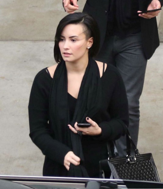 DEMI LOVATO Out in Los Angeles