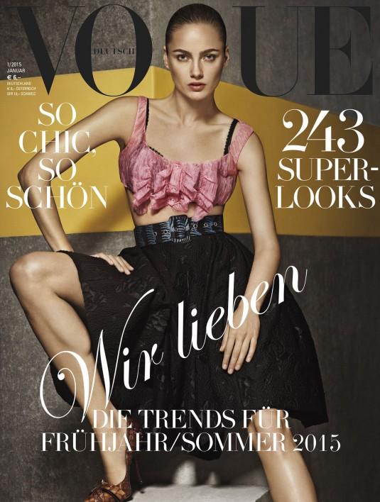 KARMEN PEDARU in Vogue Magazine Germany, January 2015 Issue