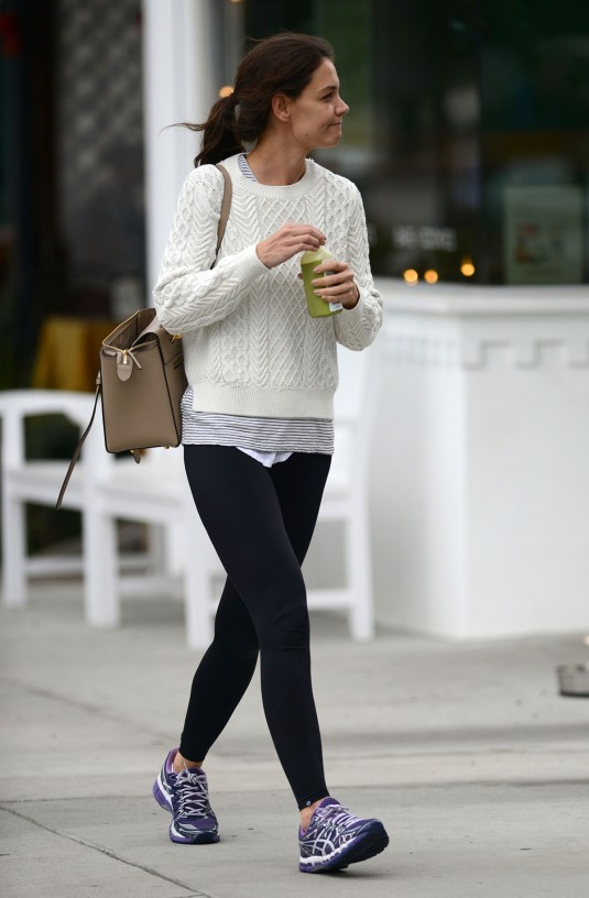 KATIE HOLMES Out in Los Angeles