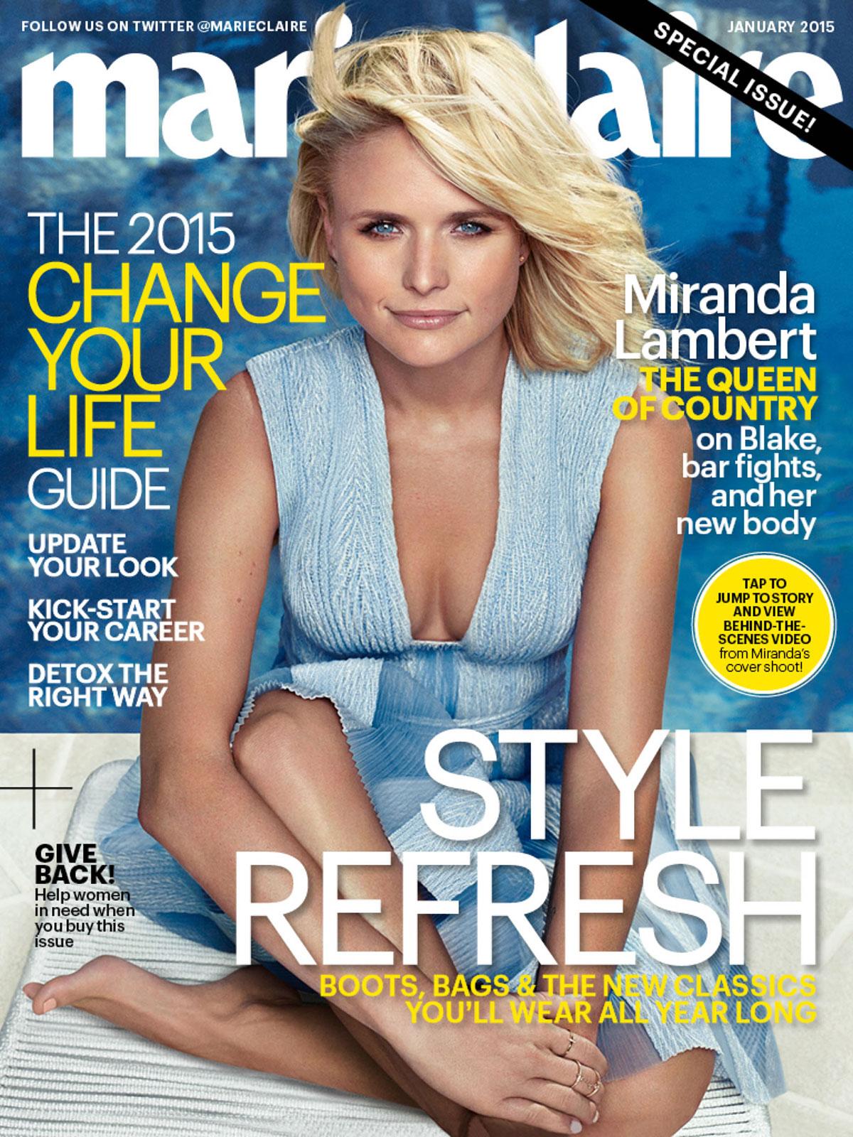 miranda lambert in marie claire magazine january 2015 issue