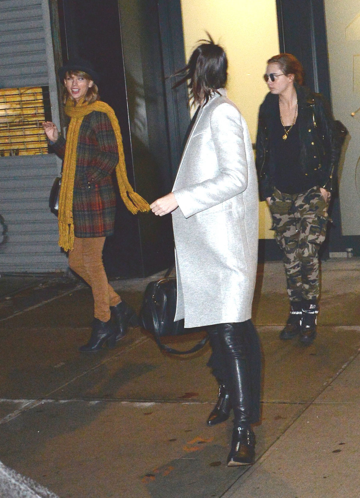 Taylor Swift Kendall Jenner And Cara Delevingne Leaves