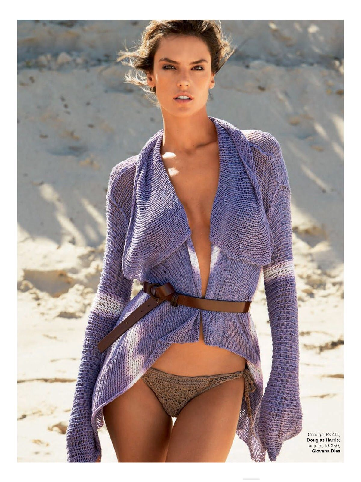 ALESSANDRA AMBROSIO in Vogue Magazine, January 2015 Issue