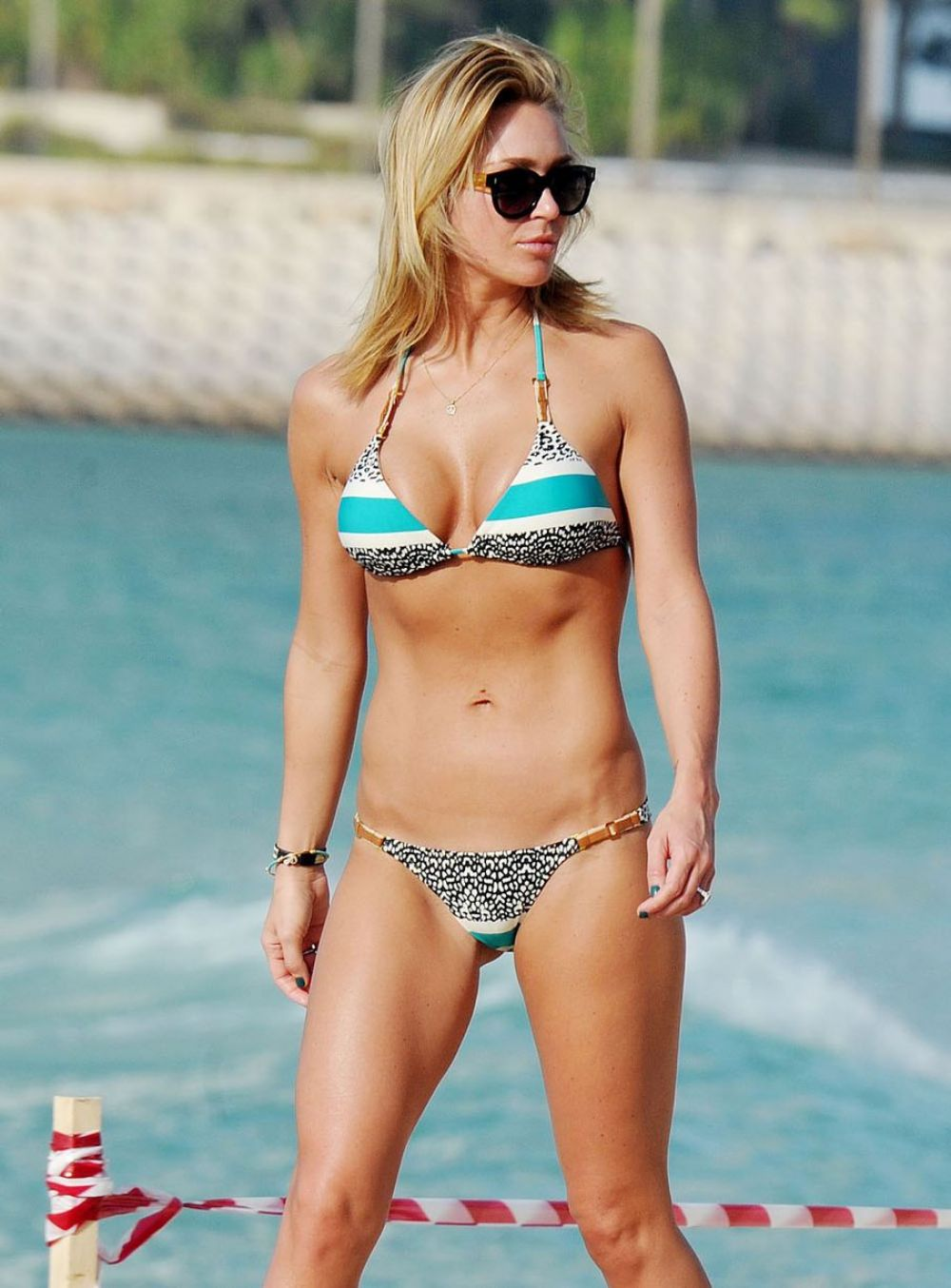 ALEX GERRARD in Bikini on the Beach in Dubai