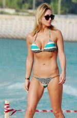 ALEX GERRARD in Bikini on the Beach in Dubai