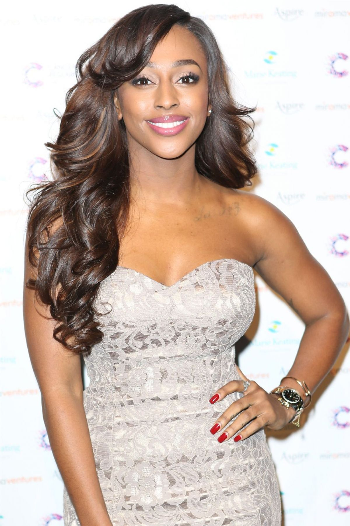 ALEXANDRA BURKE at Emeralds & Ivy Ball in London