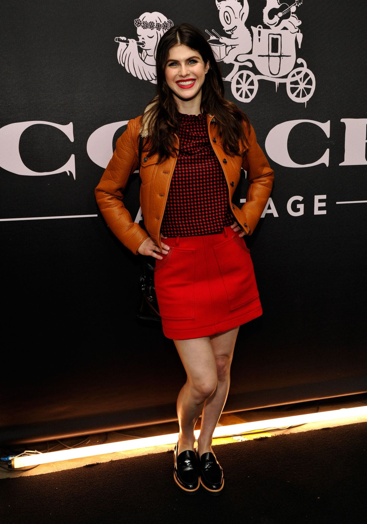 Alexandra Daddario At Coach Backstage Rodeo Drive In