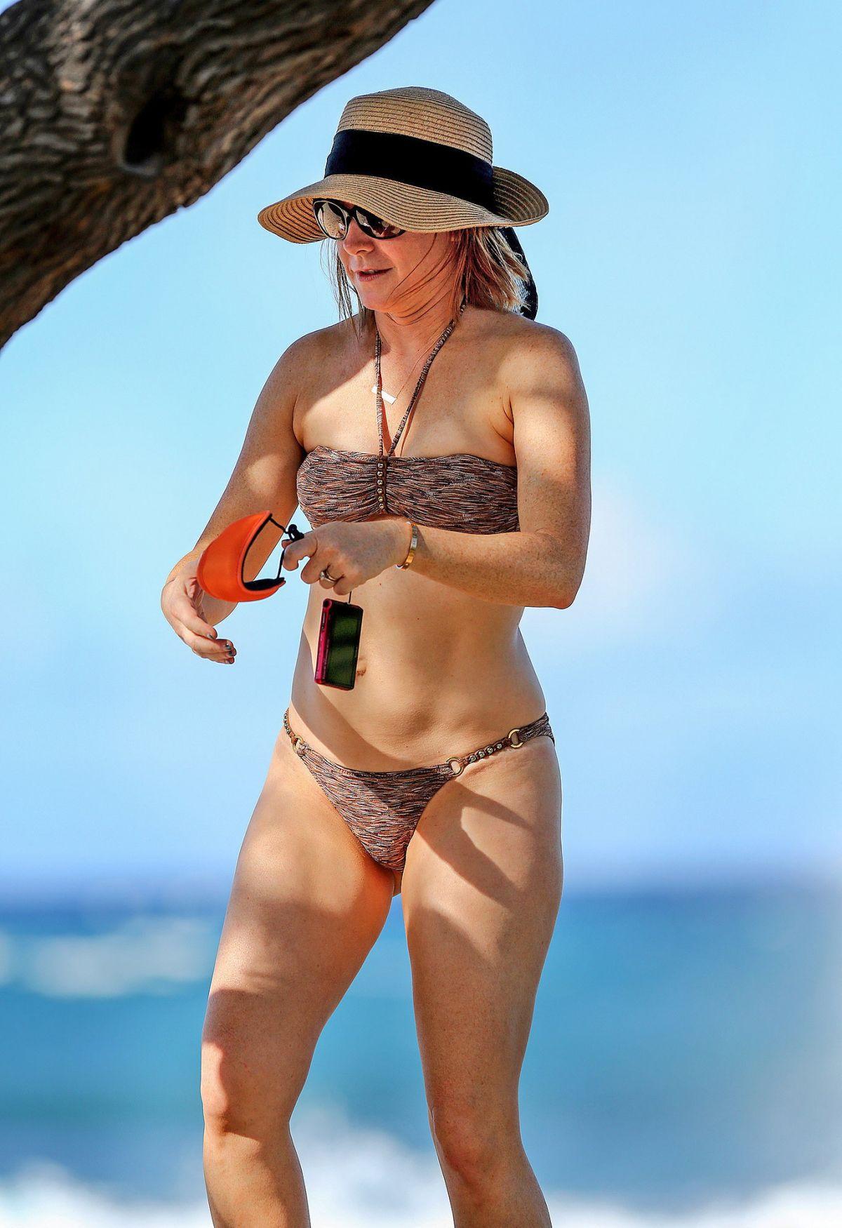 ALYSON HANNIGAN in Bikini on the Beach in Hawaii