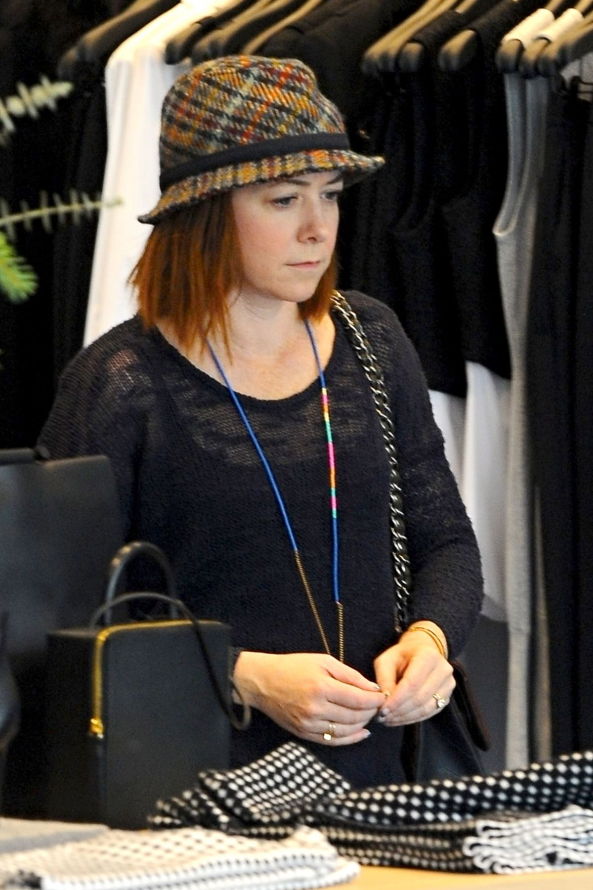 ALYSON HANNIGAN Out for Christmas Shopping in Santa Monica