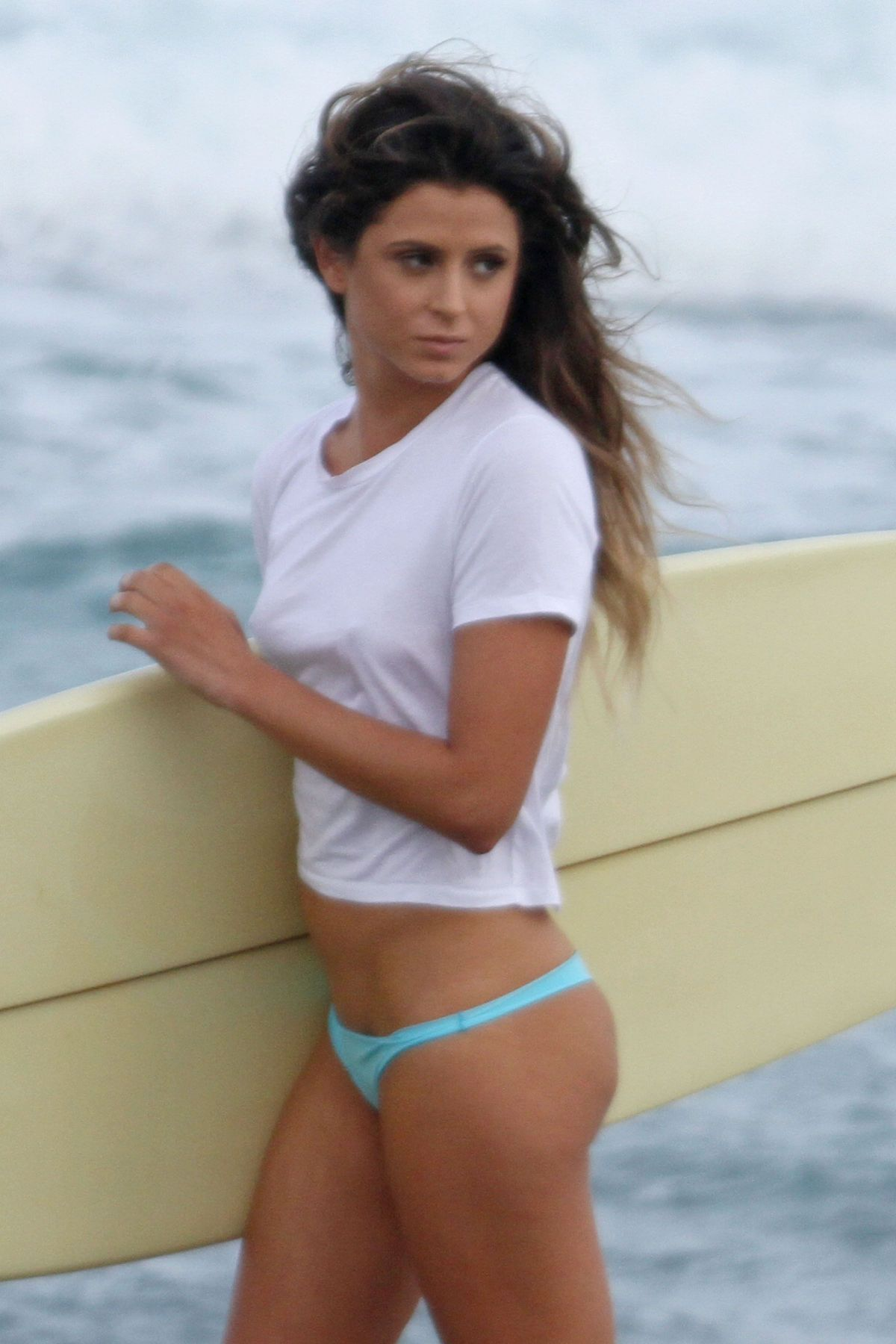 ANASTASIA ASHLEY at a Photoshoot on the Beach in Palm Beach