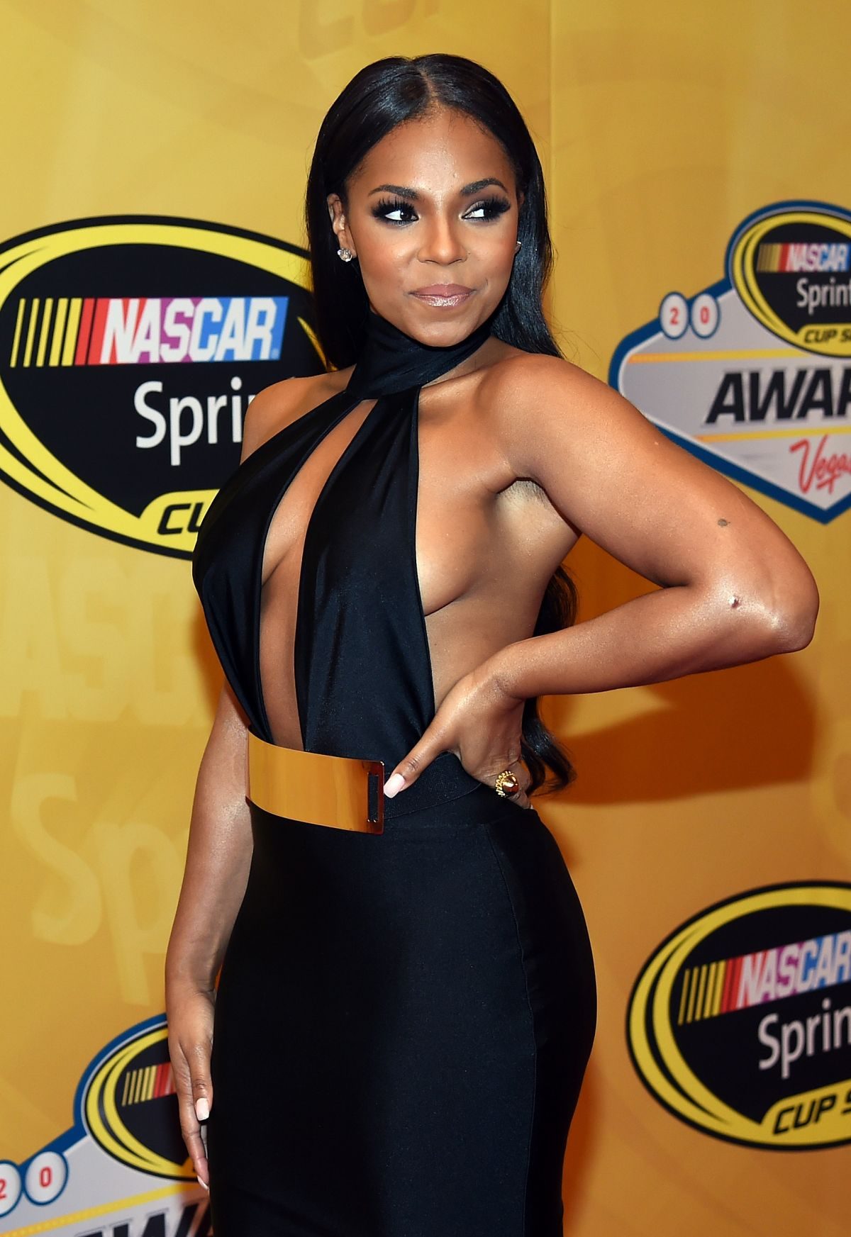 ashanti at 2014 nascar sprint cup series awards in las. Black Bedroom Furniture Sets. Home Design Ideas