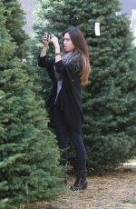 ASHLEY ARGOTA Out Sshopping for a Christmas Tree in Los Angles