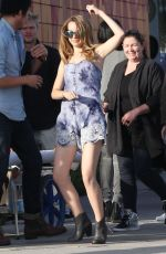 BRIDGIT MENDLER at the Set of a Photoshoot in Hollywood