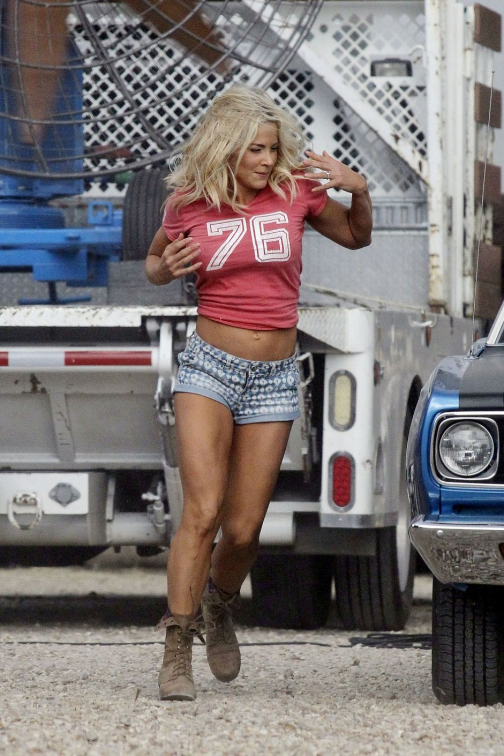 Brittany Daniel On The Set Of Joe Dirt 2 In New Orleans
