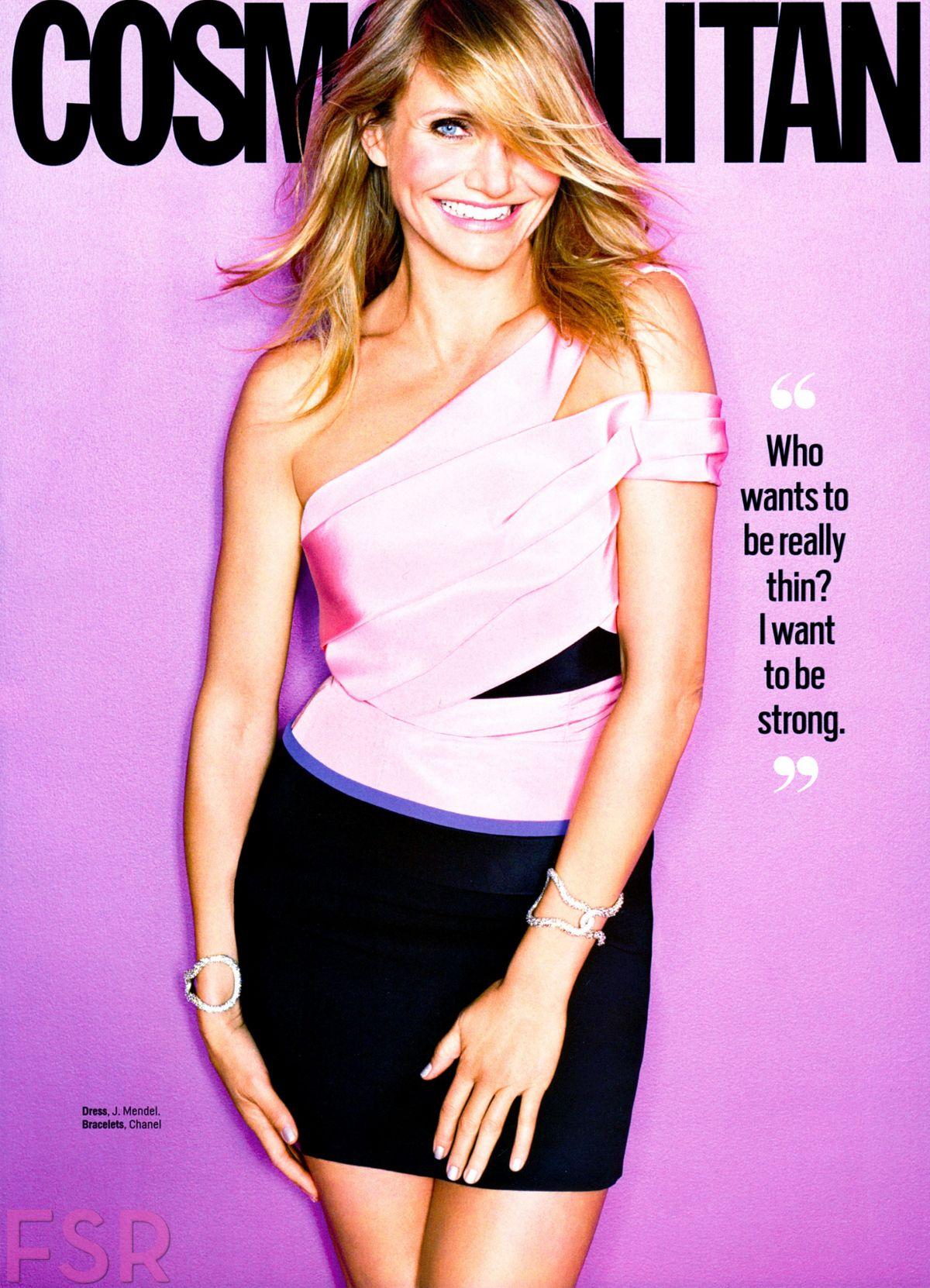 CAMERON DIAZ in Cosmopolitan Magazine, January 2015