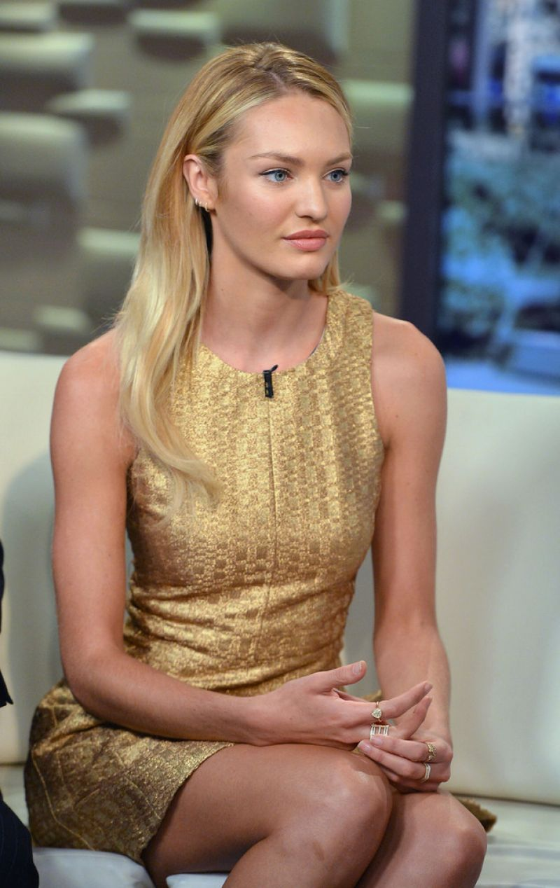 CANDICE SWANEPOEL at Fox & Friends in New York