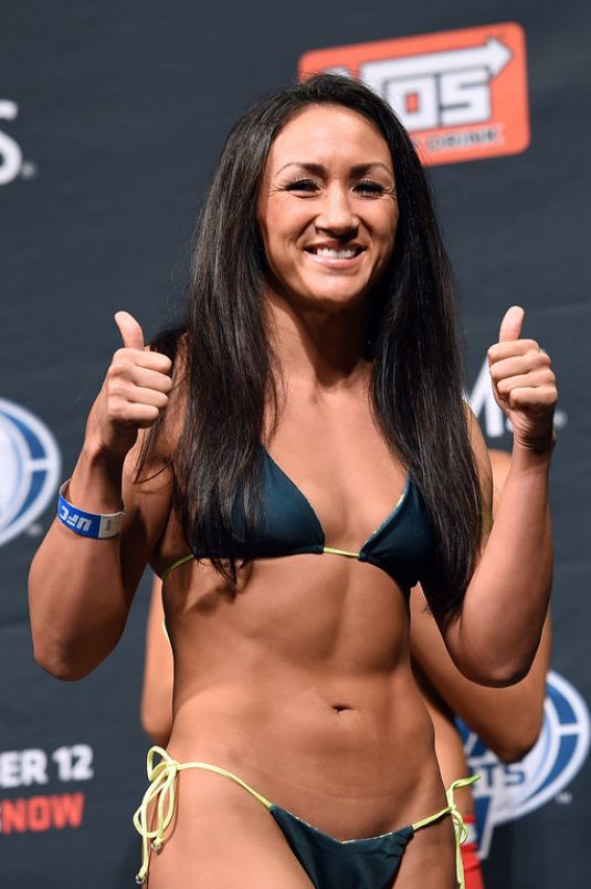 CARLA ESPARZA at Ultimate Fighter 20 Finale Weigh-in