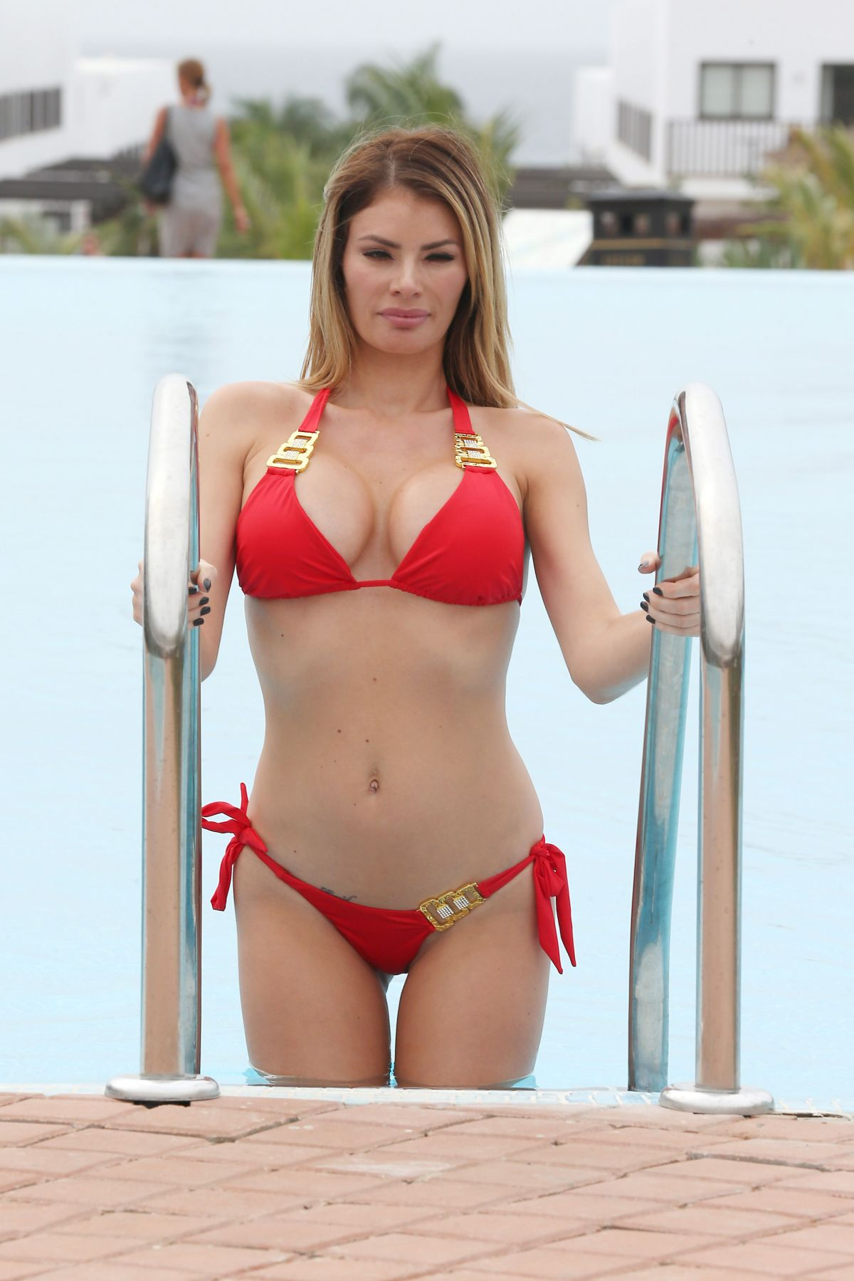 CHLOE SIMS in Bikini at a Pool in Cape Verde