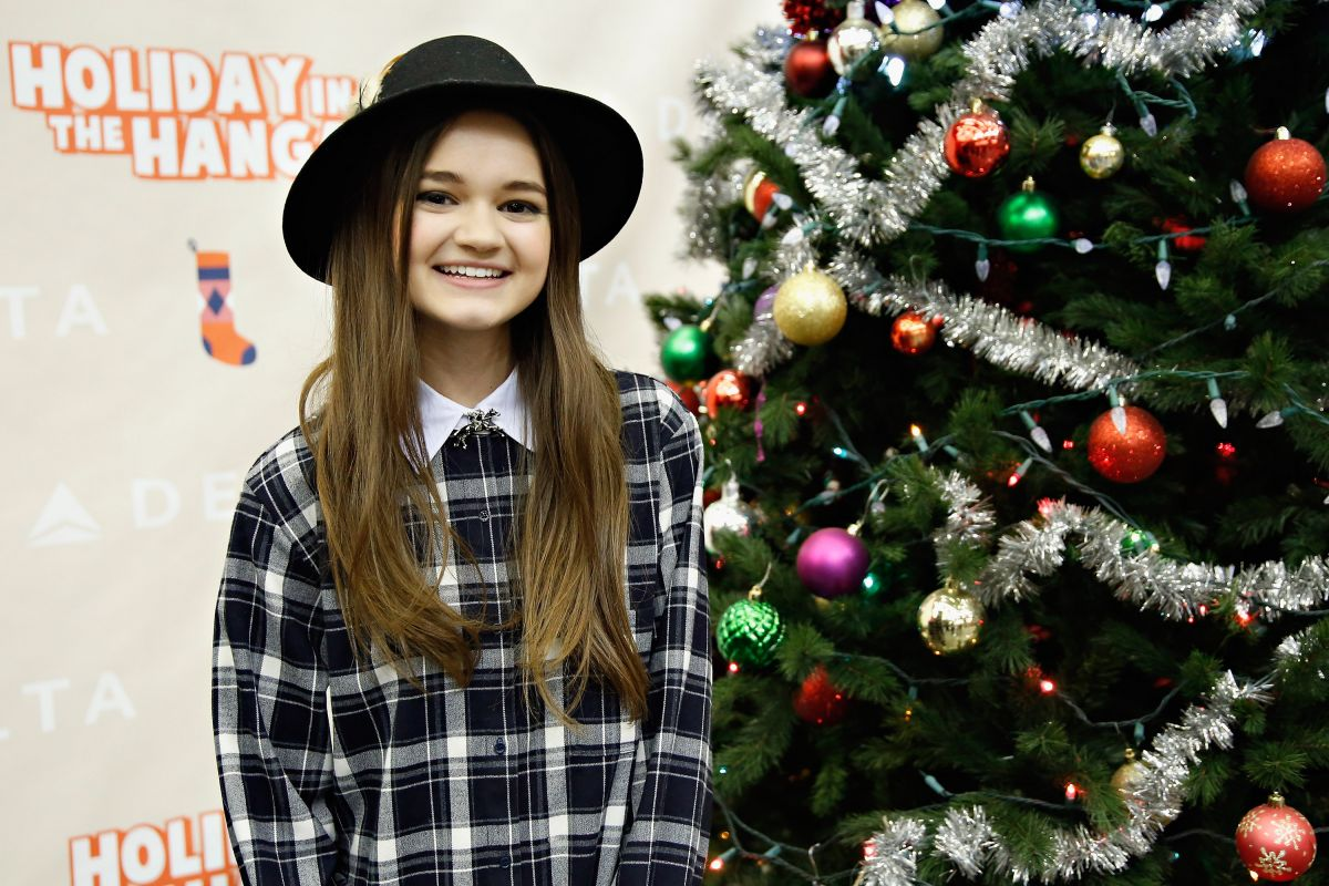 CIARA BRAVO at 2014 Holiday in the Hangar in New York