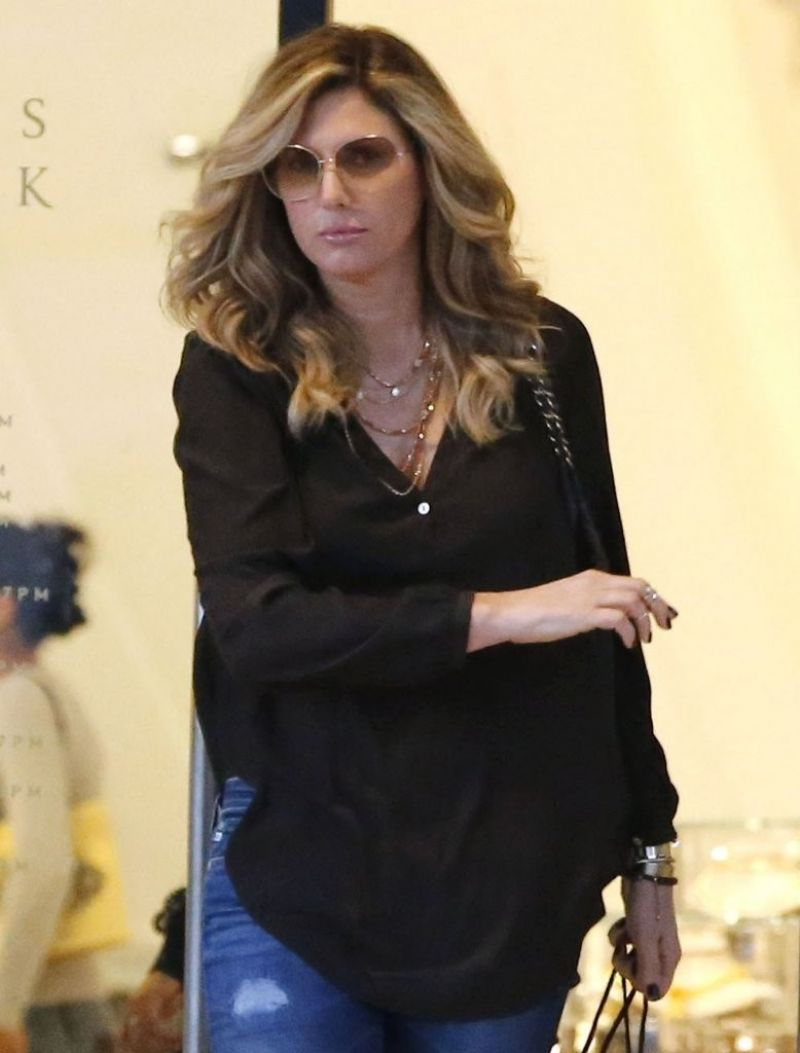 DAISY FUENTES Shopping at Barneys New York in Beverly Hills