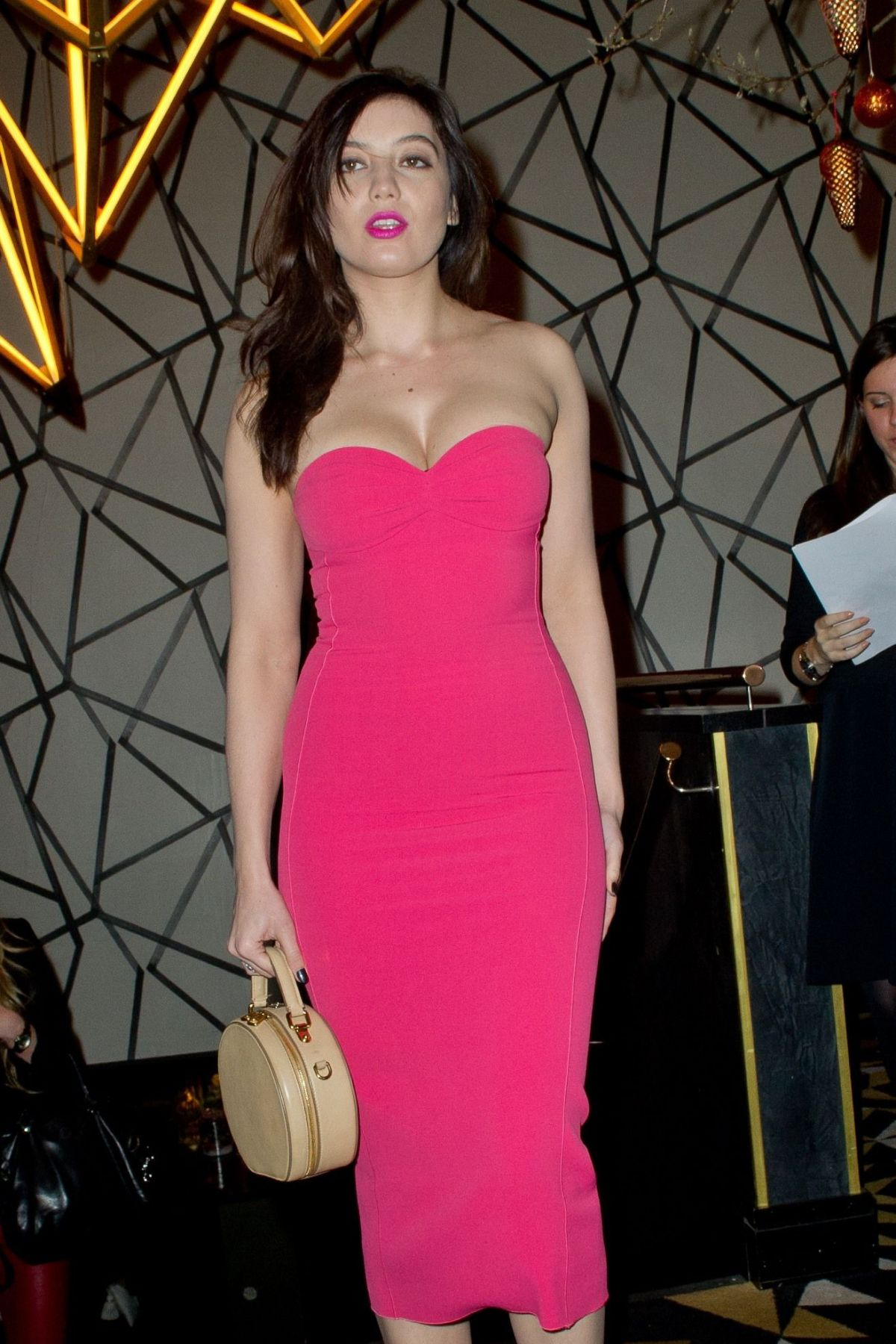 DAISY LOWE at GQ Christmas Party - HawtCelebs