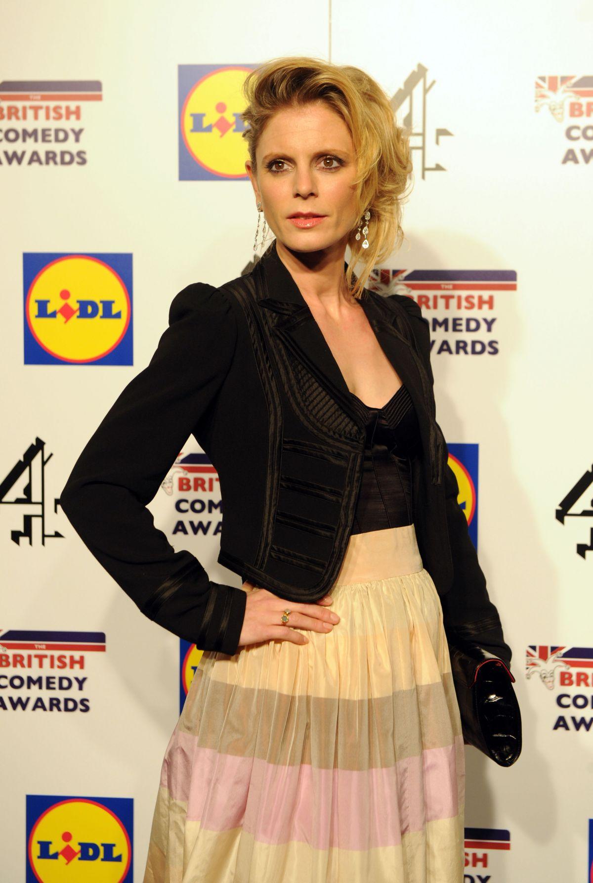 EMILIA FOX at 2014 British Comedy Awards in London