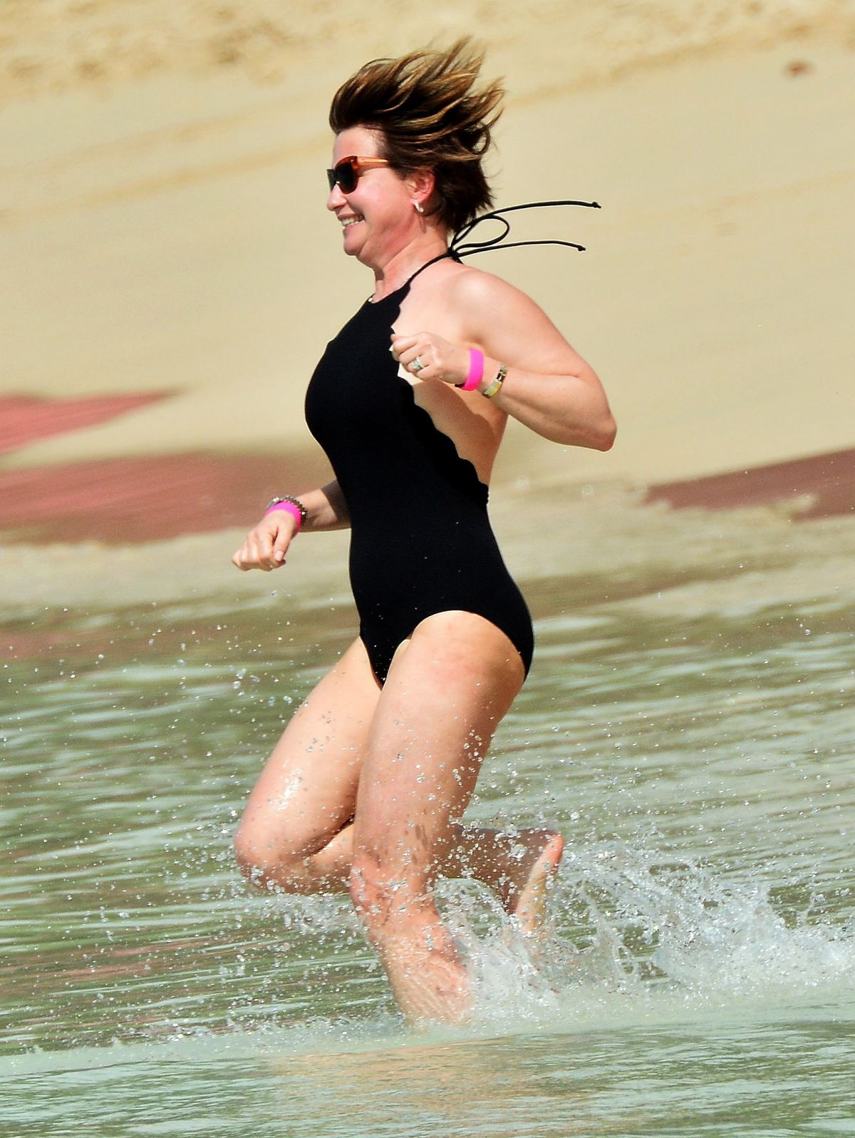 EMMA FORBES on the Beach in Barbados