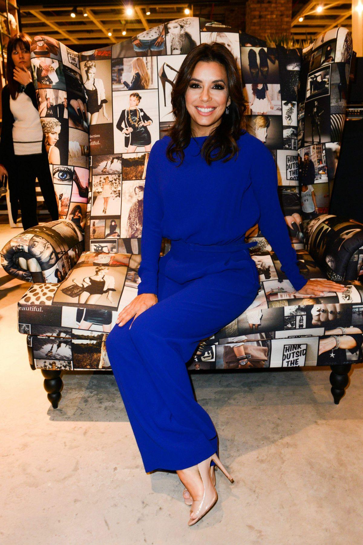 Eva Longoria At Marina Interiors Furniture Store In Dubai