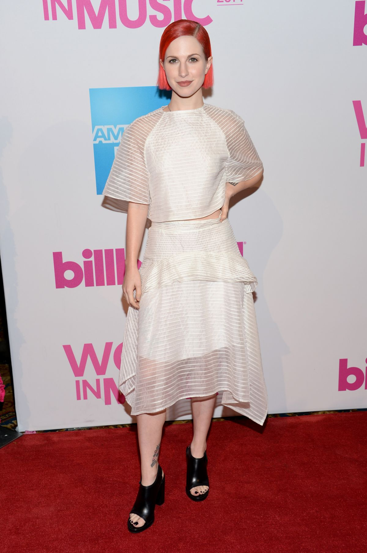 HAYLEY WILLIAMS at 2014 Billboard Women In Music Luncheon in New York