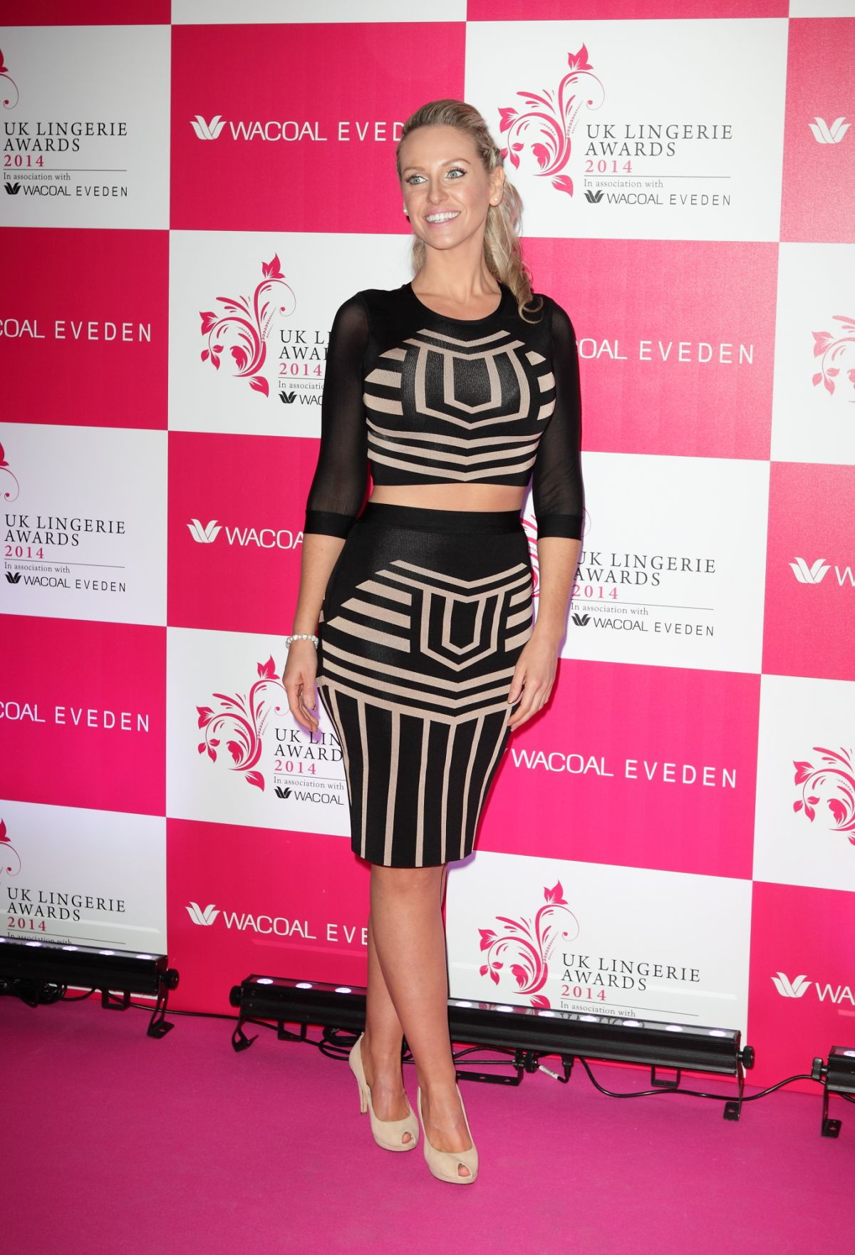 JOSIE GIBSON at 2014 UK Lingerie Awards in London