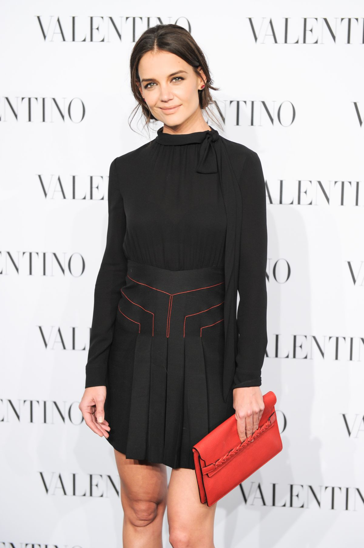 KATIE HOLMES at Valentino Sala Bianca 945 Event in New York