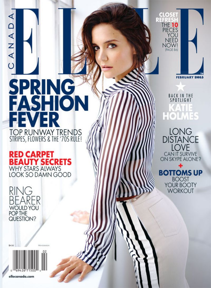 KATIE HOLMES in Elle Magazine, Canada February 2015 Issue