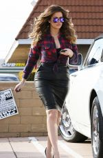 KHLOE KARDASHIAN in Tight Leather Skirt out for Car Shopping in Los Angeles