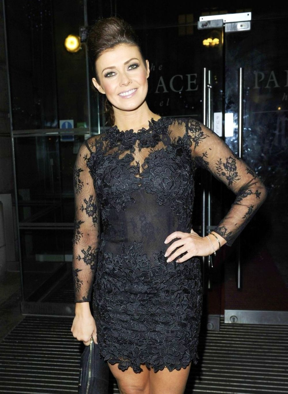 KYM MARSH Leaves Palace Hotel in Manchester